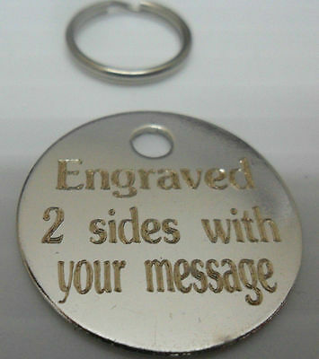 25Mm-Engraved-Pet-Tags-Id-Disc-Tag-Dog-Cat-Metal-Silver-Nickel-Engraved
