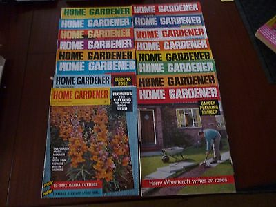 1965 HOME GARDENER MAGAZINES x 16 LISTED *AS PICTURE - CLEAROUT* *PLEASE READ*