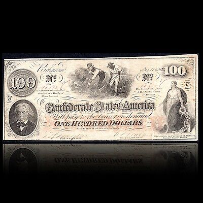 T-41 Confederate Currency Whatman Watermark $100