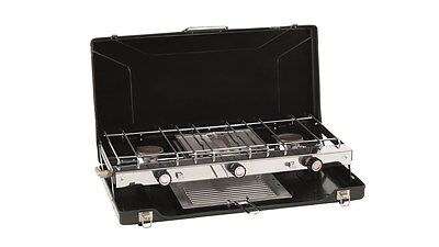 Outwell Appetizer Cooker 3-Burner Gas Stove with Grill -