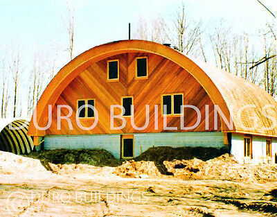 DuroSPAN Steel 30x32x14 Metal Quonset Barn Arched Building Kit Open Ends DiRECT