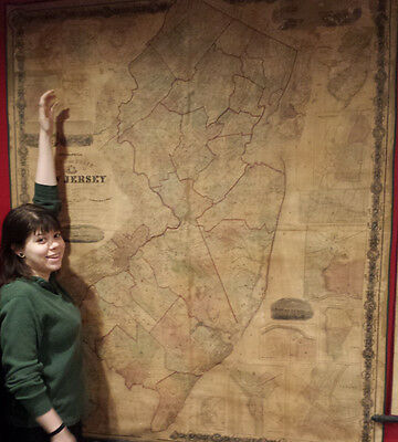 RARE and very large map of NEW JERSEY 1860 (restored)