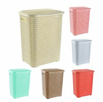 Strong Large Laundry Basket Washing Clothes Storage Bin Hamper Basket 65L