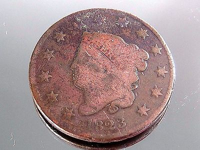 1823 Large Cent Penny Coronet Head