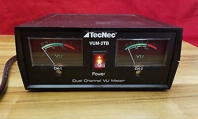 TecNec VUM-2TB VU METER Desktop, table top analog. VU Meter