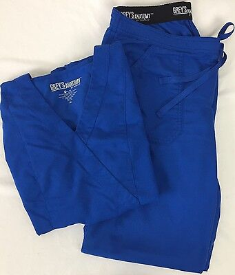 Grey's Anatomy Scrub Set Medium Royal Blue Top 41101 Pants 4245