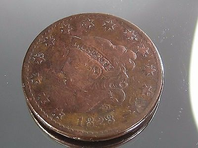 1828 Large Cent Penny Coronet Head