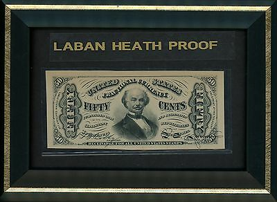 Fifty Cent Note Third Issue Fractional Currency Laban Heath Proof 1870's