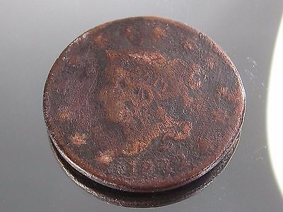 1822 Large Cent Penny Coronet Head