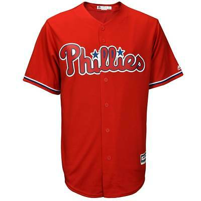 Majestic Philadelphia Phillies Cool Base MLB Trikot Alternate Rot