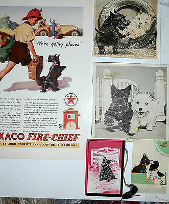 Rare Vintage Scottish Terrier Bridge Talley Card Ad Collection All Original