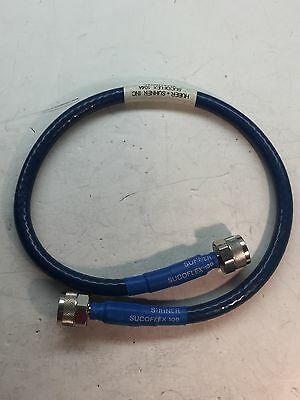 """Huber Suhner Sucoflex 104A Microwave Cable Assembly, Nm/Nm/24"""""""