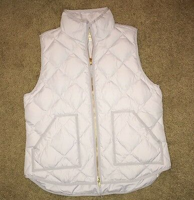 J.crew Women's Light Blue Quilted Down Vest Size Large