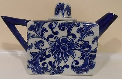 Blue and White Porcelain Tea Pot GREAT GIFT