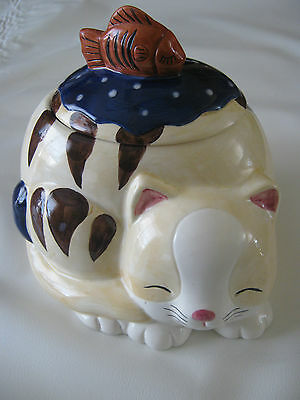 Vintage Nice well Company Limited Cat & Fish Cookie Jar