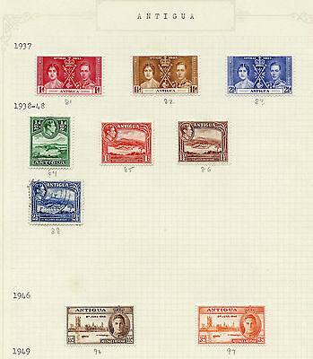 Weeda Antigua/Redonda Mint Collection #18//513, 1894 to 1978 issues CV $59.40
