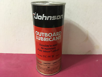 Vintage Rare Johnson Outboard Lubricant Metal Collectible Oil Can Pint Unopened