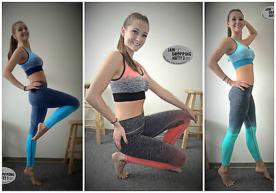 Ombre SPORTS BRA Amazing Sport Workout Exercise Space Dye Yoga Top