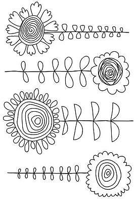 Tatty DaisiesFRS349 Woodware Clear Singles Rubber Stamp