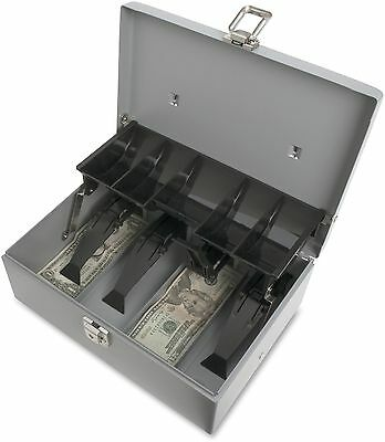 Sparco 5 Compartment Tray Cash Box Drawer Register Money Security Safe Storage