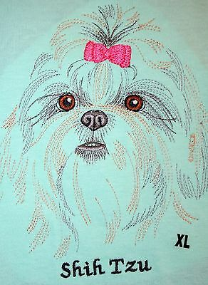 Shih Tzu New With Tags Womens Embroidered XL T Shirt Dog Mom Gift Small Breed