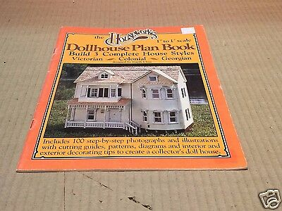 """The Houseworks - Dollhouse Plan Book - 1"""" to 1' Scale - 3 types of house styles"""