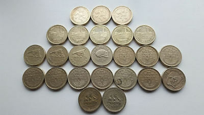 £1 ONE POUND COINS. iSLE OF MAN, GIBRALTAR, GUERNSEY, JERSEY