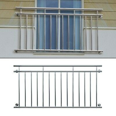 JULIET FRENCH BALCONY 184 x 90 cm SECURITY GRID STAINLESS STEEL BALUSTRADES