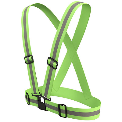 High Vis Reflective Adjustable Vest Strap Running Bike & Horse riding Motorcycle