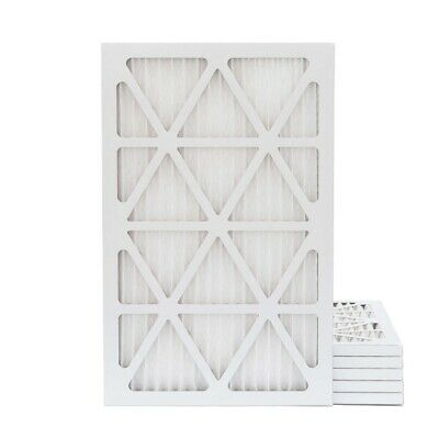16X25X1 MERV 13 Pleated AC Furnace Air Filters.   6 Pack