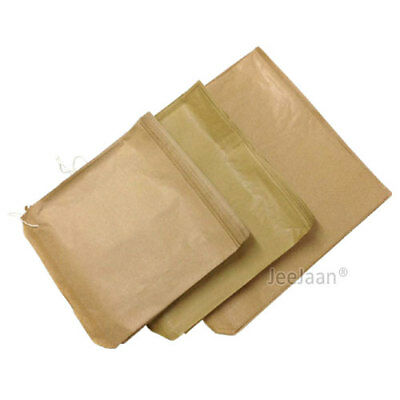 Brown Kraft Sulphite Strung Paper Food Bags for Sandwiches Groceries Gift Shop