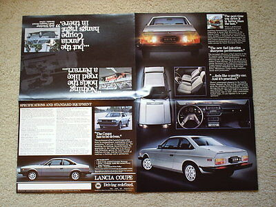 1981 Lancia Coupe Brochure With Jody Scheckter - 4 Page Poster