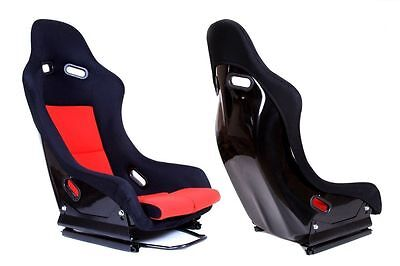 Nuovo Sedile Sportivo Seat Bucket Mn-Fo-040 Gtr Red Material