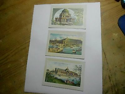 Jersey Coffee Worlds Fair Views 3 Cards Dayton Spice Mills Ohio Art Palace More