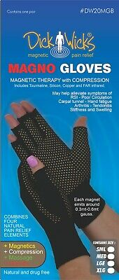 Dick Wick Magno Gloves Compression Warmth Magnetic Therapy FAR infrared (Pair)