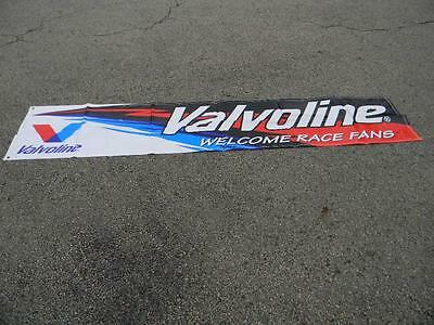 "NOS  Vintage Valvoline Welcome Racing Fans Banner New Never Used 104"" x 22"""