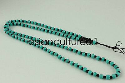Chinese hand woven necklace Artificial Turquoise Beads pendant Accessories A3