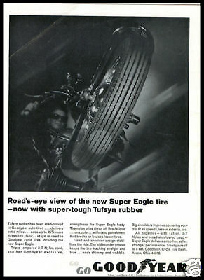 1960s vintage ad for Goodyear Suoer Eagle tires