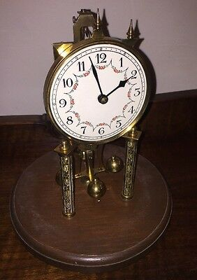 Vintage Antique Anniversary Clock Parts or Repair Maker Unknown, No Glass
