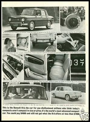 1961 vintage ad for Renault R-8 automobiles