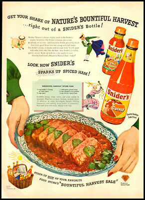 1949 vintage ad for Snider's Catsup-409