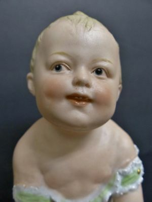 Antique Germany Piano Baby Figure Heubach Boy Touching Toes 5 ¾""