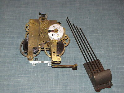 Sessions Westminster Chime Mantle Clock Movement with Chime Bar