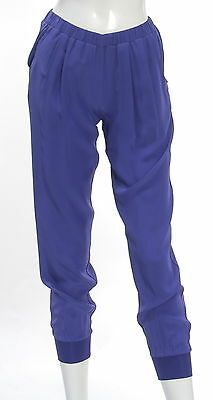 Women's GUESS BY MARCIANO Blue 100% Silk Cargo Pant Size 4