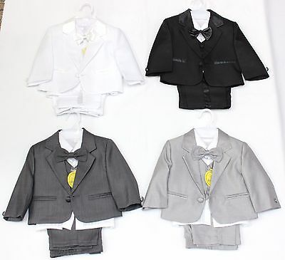 BABY BOYS 5PC Formal Suits 3M to 12M :: Great for Baptism / Christening / Party