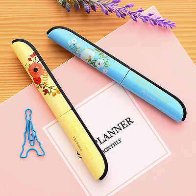 Creative Kawaii Pen Plastic Scrapbooking Scissors For Kids Gift Floral Pattern