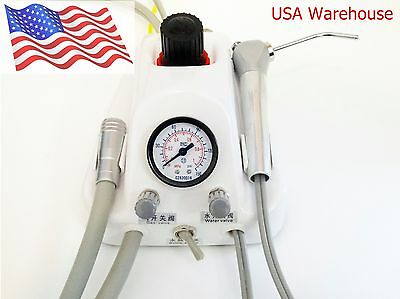 Portable Dental Unit. 4-Hole handpiece design with air/water syringe. USA Stock