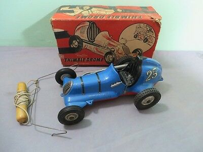 Roy Cox Thimble Drome Champion Tether Car #25 + Original Box Race Car Vintage
