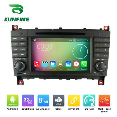 Android 6.0 Octa Core Car Stereo DVD GPS Navigation Player For Benz C-Class W203