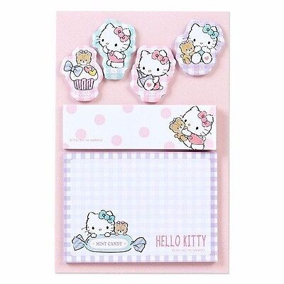 Hello Kitty Post-it Sticky Notes Memo Pad 120 pieces Sanrio Japan